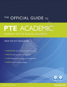 کتاب The Official Guide to PTE Academi