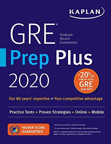 (Most Comprehensive GRE Guide: Kaplan's GRE Prep Plus 2020)