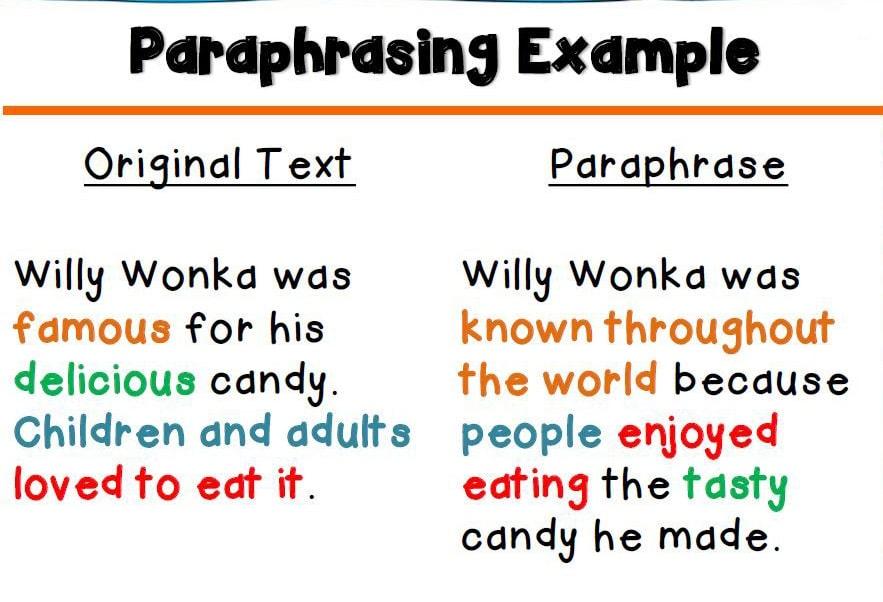 مثال پارافرایز کردن